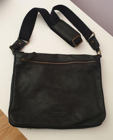 Оригинална чанта Massimo Dutti естествена кожа