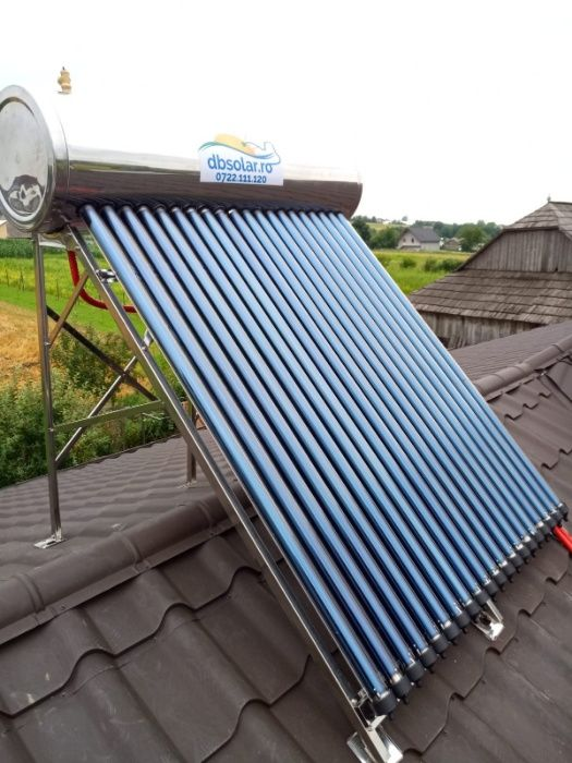 PANOUri Solare nePRESURIZATe 195L Incalzit Apa INOX NOU Garantie 5 Ani