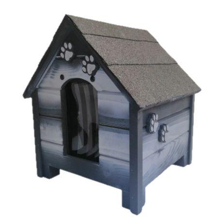 Къща за куче - Сива,размер С -Къщичка за кучета,Колиба за кученце