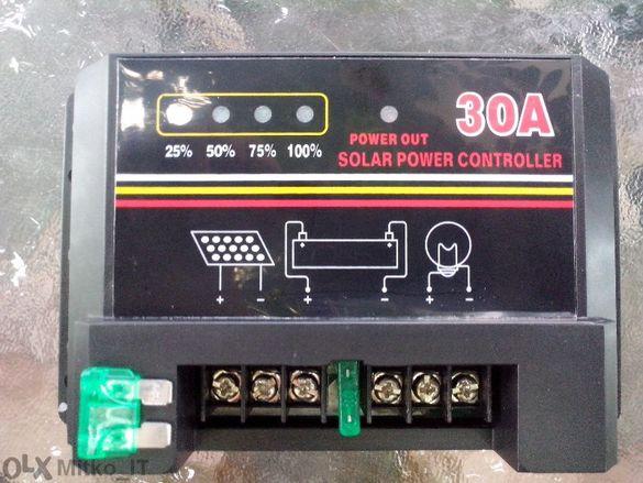 Контролер за соларен панел 12v/30а