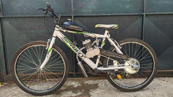 Велосипед с двигател-Мотопед БЕЗПЛАТНА ДОСТАВКА за някой градове