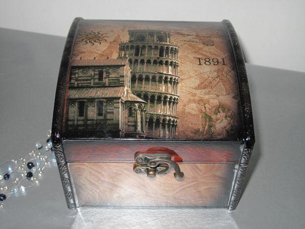Caseta bijuterii cu motiv Turnul din Pisa