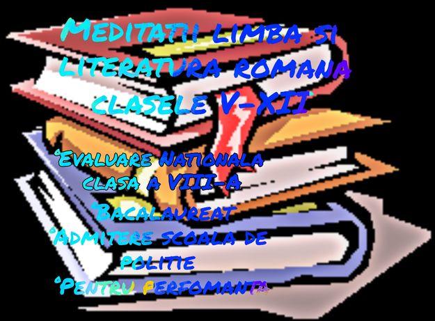 Meditatii limba si literatura romana