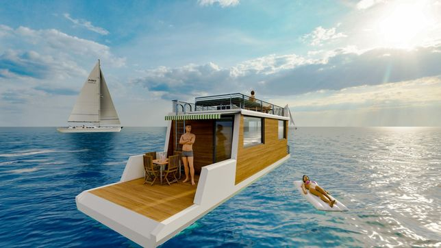 Ponton catamaran House boat casa pe apa ponton barca