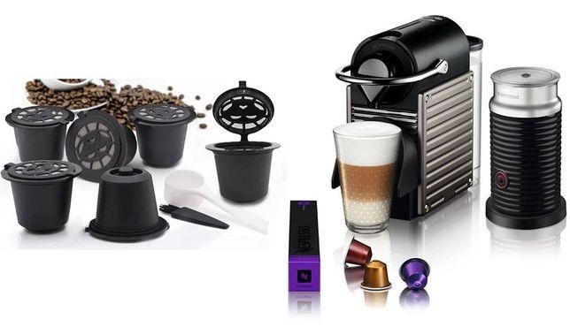 NESPRESSO capsule reincarcabile pentru expresor cafea; set 6 buc