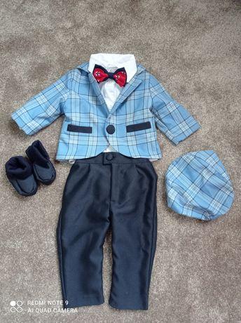 Costum băiețel botez 0-3luni