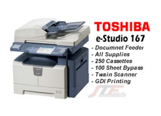 Imprimanta copiator Toshiba e studio 167 alb negru mono A3 A4