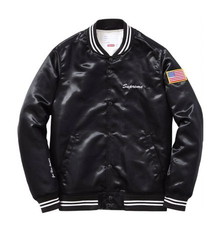 ОРИГИНАЛ Supreme Flag Bomber Jacket - мъжко яке - р.Л DEADSTOCK / RARE