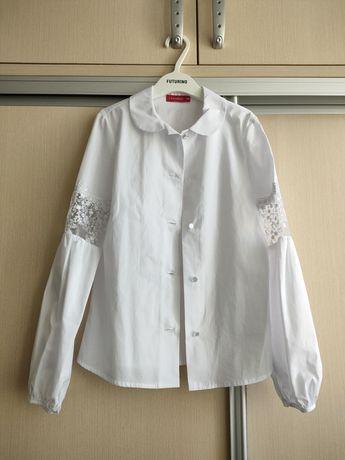 Блузка школьная новая 146