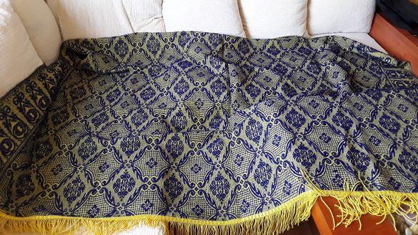 Ръчно плетени ретро вълнени покривки/ковертюри/постелки нови