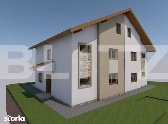 Duplex langa padure, 250 mp teren, semifinisat, zona Manastirii Tauti
