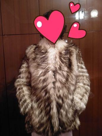 Прекрасно палто еко косъм