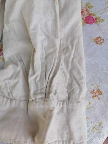 camasa barbateasca veche din panza  de  in   tesuta  in  casa