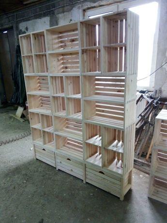 Стелаж, секция от дървени щайги