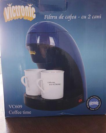Filtru de cafea cu 2 căni Victronic- VC609 albastru