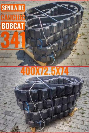 Senila de cauciuc cu inserție metalică pentru miniexcavator Bobcat 341