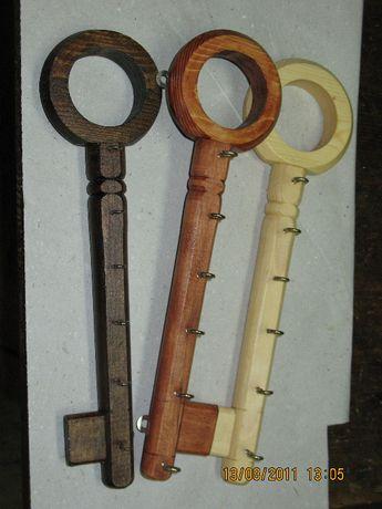 Дървена закачалка за ключове