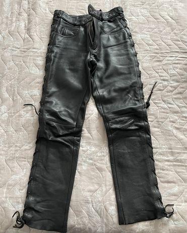 Pantaloni piele moto chopper