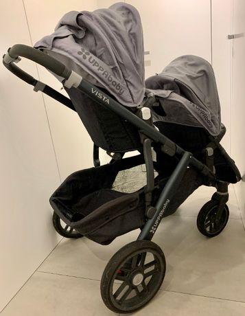 UPPAbaby Vista Stroller 2018 комбинирана бебешка количка за близнаци