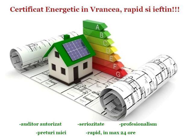 Certificat energetic Focsani, Certificat Energetic Vrancea - rapid