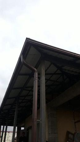 Металлический водосток прямоугольного сечения 120/76, 0,5мм в Алматы