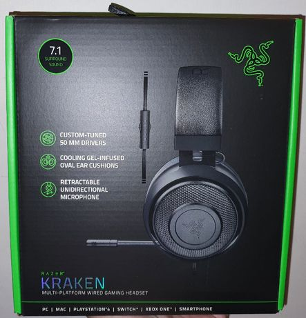 Casti Gaming Razer Kraken 2019 RZ04-02830100-R3M1 PS4 Xbox One PC Noi