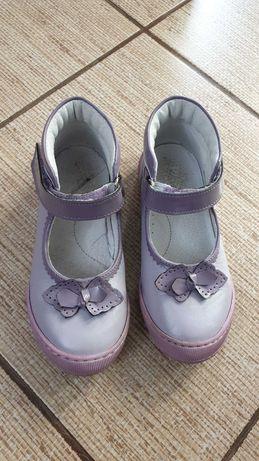 Papucei mov nr 28 din piele naturala