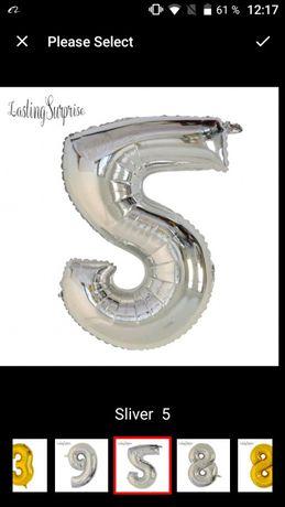 Balon folie aluminiu cifra 5