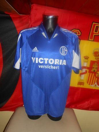tricou schalke 04 adidas 2004-2006 home marimea XL nou
