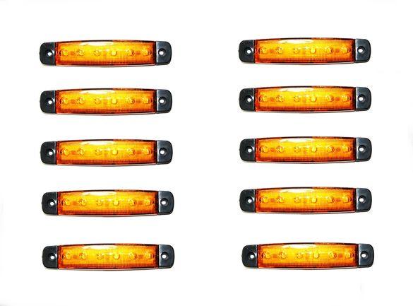 10 броя ЛЕД Габарити,светлини,токоси,рибки 12v 24v за камиони ремаркет