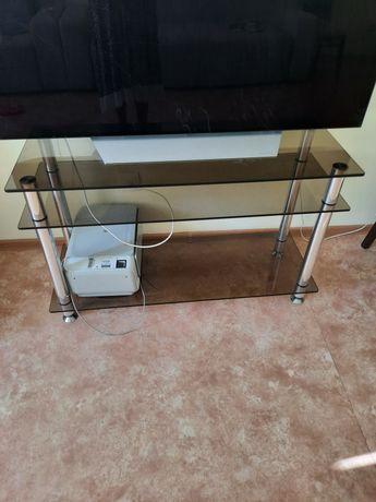 Тумба TV, стеклянный столик.