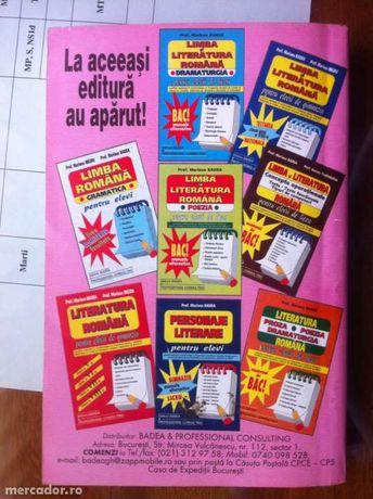 Limba si literatura romana pentru elevii de liceu cls a IX-a