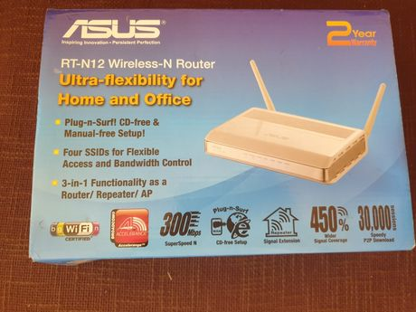 Router Wireless-N 300 - ASUS RT-N12