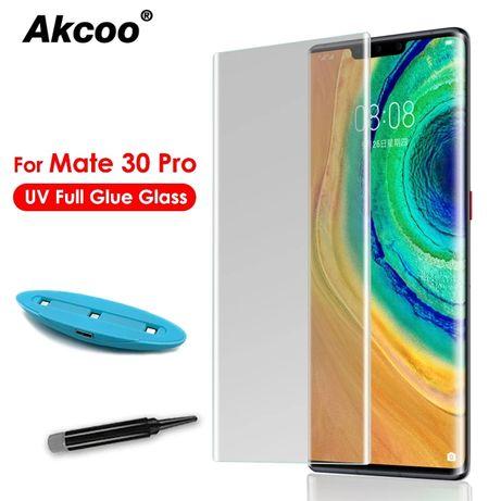 UV NANO 3D Стъклен протектор за целия дисплей за Huawei Mate 30 Pro 20