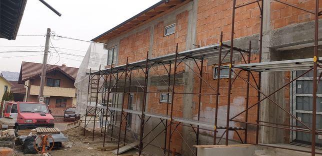 Costrucții  case la roșu,termosistem,pavaj,ziduri de sprijin,gazon