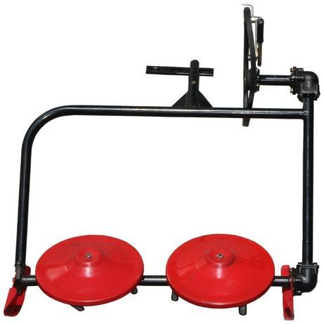 Cositoare rotativa cu 2 talere actionata pe fulie pentru motocultor