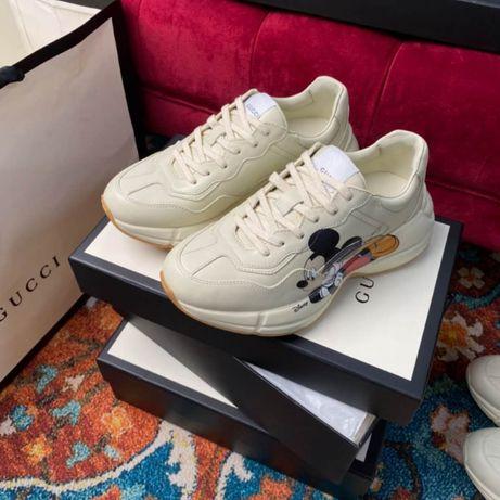 Кроссовки Gucci размеры 37 и 38, производство Гуанчжоу.