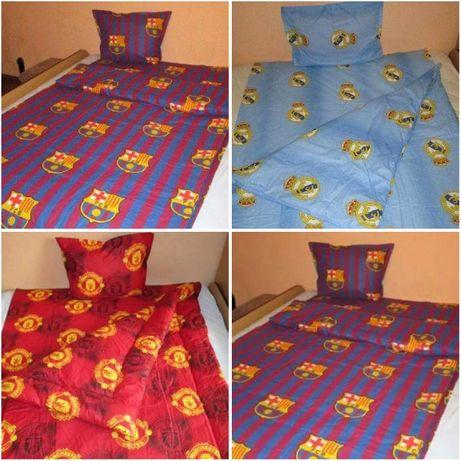Спален комплект Ман.Ю,Барселона и Реал М-завивка/плик,чаршаф и калъфка