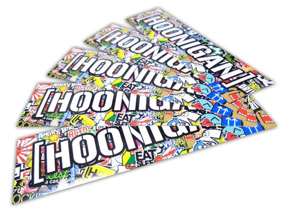 HOONIGAN + BOMB стикери (10бр.) с размер 210х60мм