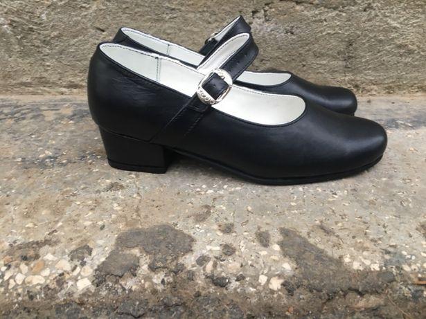 Pantofi dama pentru dans popular din piele naturală
