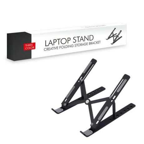 Сгъваема стойка за лаптоп пластмаса черен