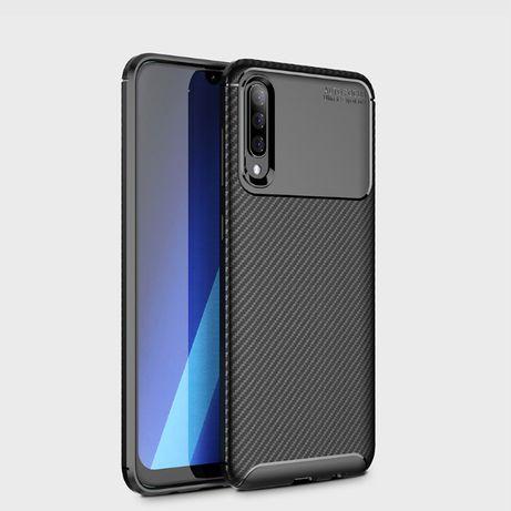 Samsung A10 A20E A40 A50 A70 Husa Carbon Ultra Slim Din Silicon Neagra