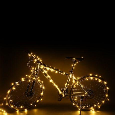 КАЧЕСТВЕНИ!!! Коледни лампички на БАТЕРИИ, таймер, дистанционно,водоус