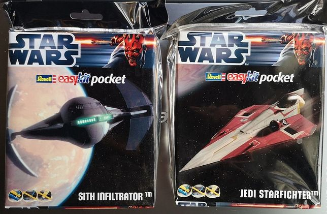 "Set de 2 kituri star wars Jedi Starfighter ""Easykit Pocket"" Revell"
