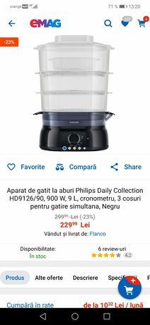 Aparat de gatit cu aburi, Steamer Philips