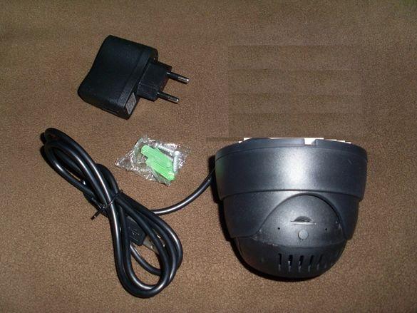 Охранителна камера с мемори карта,купупна камера за дневно/нощно снима