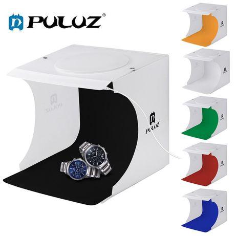 Lightbox Puluz 23cm cub foto cu led incorporat pt fotografie de produs