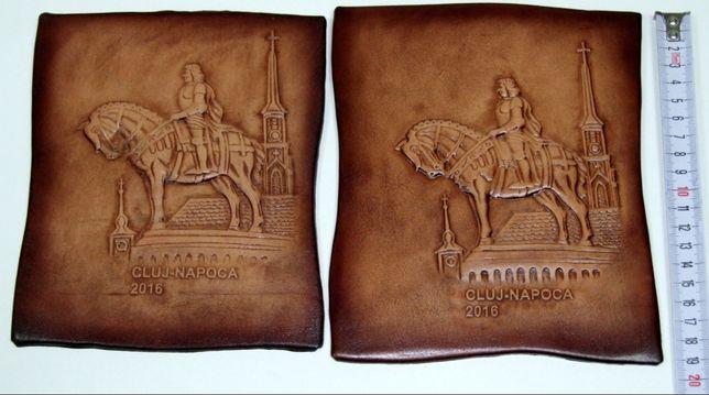 Tablouri cu Matei Corvin, regele Ungariei, stantate pe piele box, NOI