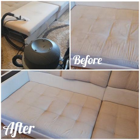 Екстракторно пране на мека мебел и матраци