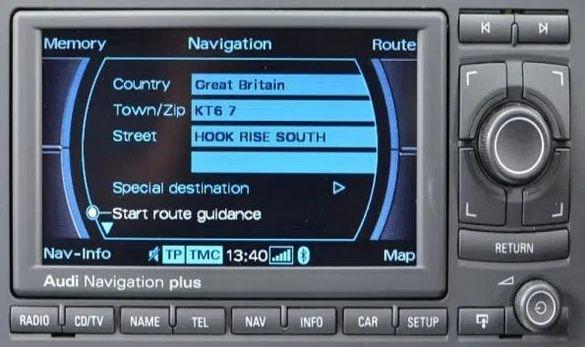 АУДИ / AUDi навигационен диск карта за RNS-E последна версия 2020 год